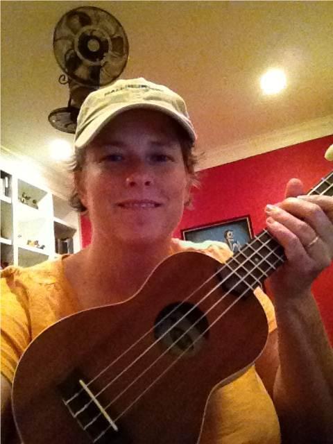 Christi and ukulele